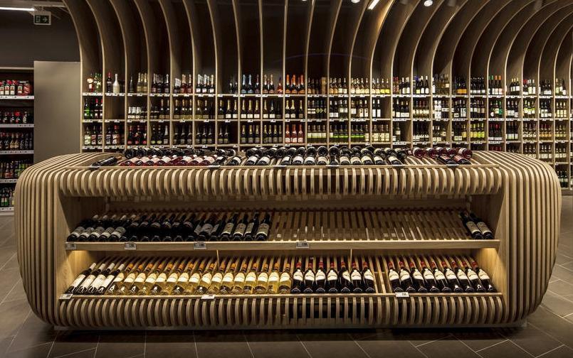 wijn-winkel-display